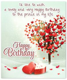 Birthday Card With Cute Message For Him Wishes Msg Messages