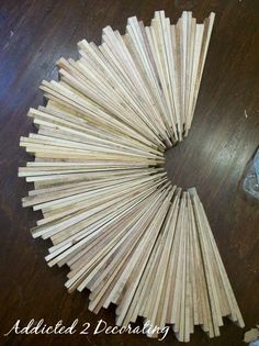 D.I.Y. Project:: Sunburst Made Out Of Wood Shims