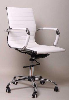Bürostuhl weiß  Leder-Design-Drehstuhl-Chefsessel-Buerostuhl-Montreal | eBay ...