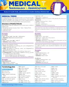 Medical Terminology & Abbreviations