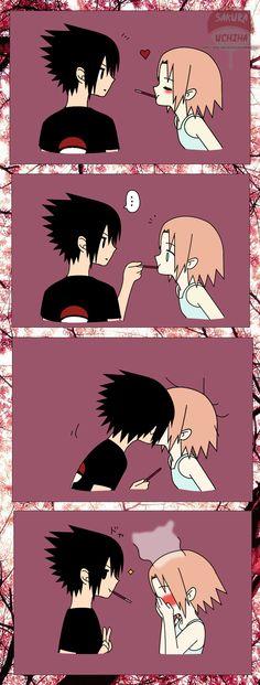 SasuSaku - Direct Kiss by Sasu-Saku-Uchiha.deviantart.com on @deviantART