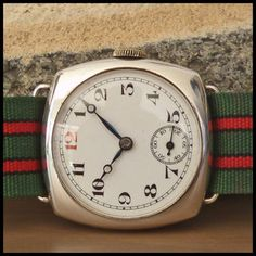 1920's WW1 Antique 925 Solid Silver Military Trench Watch 7j HW Swiss Movement | eBay