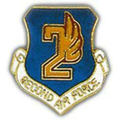 "U.S. Air Force 2nd Air Force Shield Pin 1"" by FindingKing. $8.99. This is a new U.S. Air Force 2nd Air Force Shield Pin 1"""