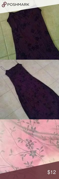 dress Size medium straps cranberry black color Size medium spaghetti shoulder straps chris X cross in the back long style solid cranberry color black print overlay beautiful dress perfect for the holidays weddings dance women ladies juniors - only wore it 1 time for a few hours!  as always I am willing to trade :-) Dresses Maxi