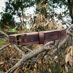 Sometimes we get a little bit crazy around here.. Crazy horse brown that is! I suggest you grab one of these soon! Mottsleatherdesigns.com #waterbuffalo #gunbelt #concealedcarrynation #exoticleather #belt #tactical #mottsleatherdesigns #doyouevenmotts