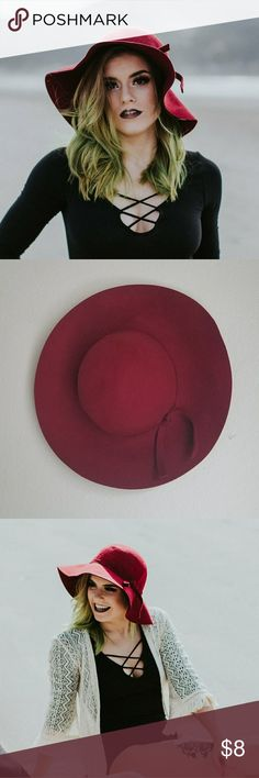 Red Felt hat Red floppy hat Charlotte Russe Accessories Hats