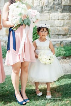 cutest flower girl with her rose ring pillow by Le Coeur Sauvage