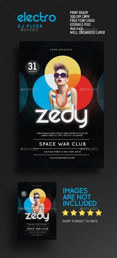 Electro Bang Flyer  Flyer Template Flyers And Template