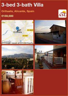 3-bed 3-bath Villa in Orihuela, Alicante, Spain ►€159,000 #PropertyForSaleInSpain