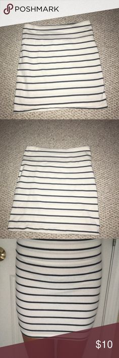 Forever 21 Blue and White Striped Pencil Skirt A hardly worn size small pencil skirt navy blue and white striped Forever 21 Skirts Pencil