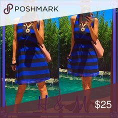 Mini Sweet sassy and blue!, nothing a little dainty mini can do on a hot summer day!. H&M Dresses Mini
