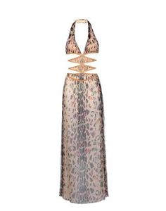 Long silk tulle dress with multicolored animal print - Summer 2004 Re-edition