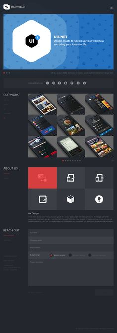 Super clean example of flat web design with nice blue colors. I like this design a lot!