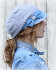Summer Hat Slouchy Visor Beanie Newsboy Cap by GreenTrunkDesigns