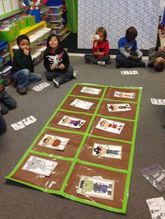 Life-size Ten Frame - Chalk Talk: A Kindergarten Blog