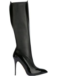 Shop Alexander McQueen stiletto knee high boots in Vitkac from the world's best independent boutiques at farfetch.com. Shop 300 boutiques at one address.