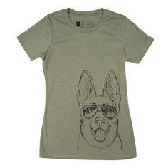 Brutus - German Shepherd T-Shirt - OLIVE