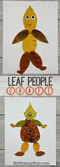 and easy leaf people craft This leaf art project can be used along with a lesson about leaves. This craft great for kids in preschool, kindergarten, and grade.This leaf art project can be used along with a lesson about leaves. This craft great for Fall Crafts For Kids, Fun Crafts, Autumn Art Ideas For Kids, Leaf Crafts Kids, Autumn Crafts Preschool, Fall Toddler Crafts, Kids Arts And Crafts, Thanksgiving Crafts For Kindergarten, Fall Crafts For Preschoolers