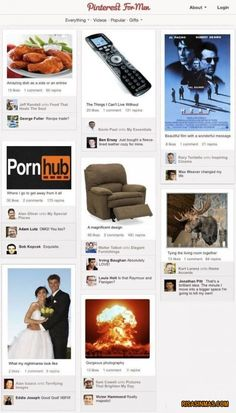 Pinterest for Men  http://bit.ly/KECeEP