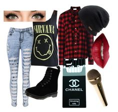 """""""Untitled #86"""" by steamynightmare on Polyvore featuring RED Valentino, Dr. Martens, Coal and TheBalm"""