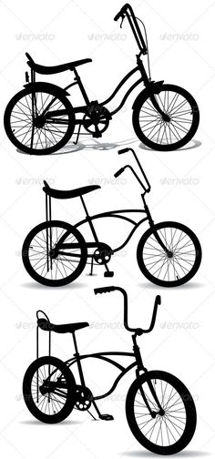 Retro Bicycle Silhouettes - Sports/Activity Conceptual
