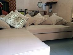 Sofa in velluto di seta