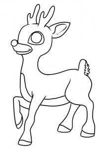 clarice and rudolph coloring pages | How to Draw Clarice the Reindeer, Step by Step, Christmas ...
