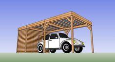 Abri bois voiture 5 x 3 avec