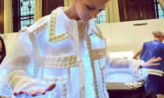 Xiao Li Lights Up with Silicone Knitwear