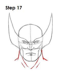 Draw Wolverine Step 17