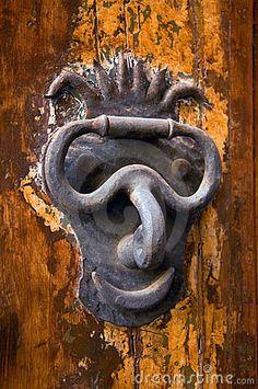 Door-knocker designed with a sense of humor