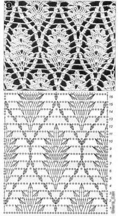 Crochet stitch leafs