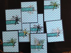 thank you notes - Cheery Lynn Designs die cuts and aluminum cans to make embellishments