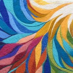needle felted paintings | Needle Felted Wool Painting - Colorful from ...