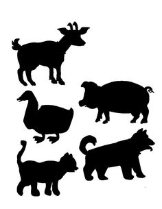 Children's activity and craft templates. Shadow Theatre, Bible Crafts, Farm Animals, Sheep, Rooster, Moose Art, Homeschool, Images, Funny Pictures