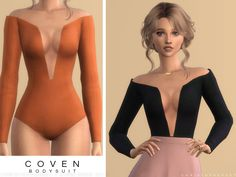 Coven Bodysuit for The Sims 4 by Sims 4 Toddler Clothes, Sims 4 Mods Clothes, Sims 4 Clothing, Sims Mods, Sims 4 Cc Packs, Sims 4 Mm Cc, Pelo Sims, Sims 4 Teen, Sims 4 Gameplay