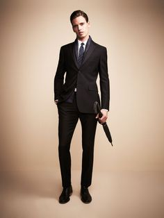 c905547c80a4 An amazingly tailored Burberry London Milbury Suit with a simple touch from  the contrasting patterned blue