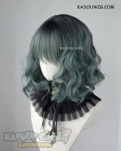 Style: Short lovely wavy blunt-ended style with thick hair and messy waves,lightly angled. Choppily layers long bangs can sweep to side, the bangs measure apporx. Kawaii Hairstyles, Pretty Hairstyles, Wig Hairstyles, Anime Wigs, Anime Hair, Cheveux Oranges, Kawaii Wigs, 3 4 Face, Cosplay Hair