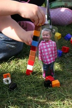 What a fun way to get kids measuring! Afterward, you could add them to small world play too!