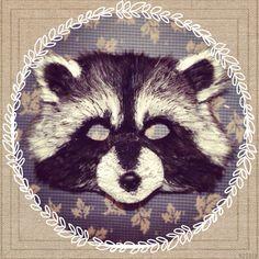 Raccoon Mask Costume Handmade Vegan raccoon by MissMaryMask