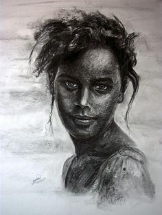 Sketch the portrait by Hadeel Abolyazeed, via Behance