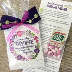 Visiting Teaching Gift - April 2016 Visiting Teaching Conference, Visiting Teaching Gifts, Teaching Aids, Teaching Resources, Blessing Bags, Lds Church, Scripture Study, Inexpensive Gift, Relief Society