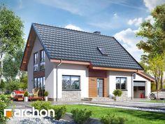 #NOWOŚĆ! Projekt: #Dom w zielistkach 3 (G) - Atrakcyjny #projektdomu przeznaczony na działki z wjazdem od południa.