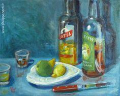 Titre: alcool 07, format: 50x40 cm, technique: huile sur toile, réalisation: mars 2015