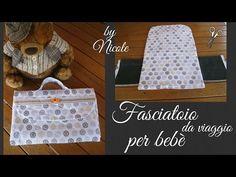 Fasciatoio per bebè da viaggio-tutorial- how to sew a baby changing mat Baby Changing Mat, Handmade Baby, Youtube, Sewing, Diy, Yuri, House, Scrappy Quilts, Craft