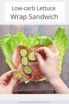 Lettuce Sandwich, Lettuce Wraps, Low Carb Sandwiches, Wrap Sandwiches, Baked Broccoli Recipe, Healthy Summer Recipes, Healthy Food, Low Carb Wraps, Lunch Wraps