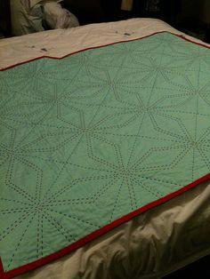 Solids circle mug rug stitching detail | Stitch, Embroidery and Third : quilting stitch - Adamdwight.com