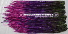 Wool & Silk Dreads  40DE Oil Slick made by #NVCL3ARBVTT3RFLY #oilslick #oilslickhair #darkrainbow #grayrainbow #oilslickdreads #dreads #wooldreads #rainbowhair