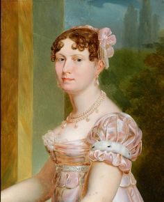 """Jerome's Wife #2:  """"Kinsoen, Francois-Joseph - Portrait of Catherine of Würtemberg, Wife of Jerome Bonaparte, King of Westphalia""""  Jerome married her as his second (and possibly bigamous) wife after abandoning Betsy Patterson and her son, Jerome Napoleon Bonaparte, at the behest of Napoleon."""