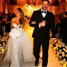 Sofia and Joe together on their wedding day